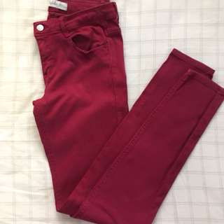 Zara wine pants