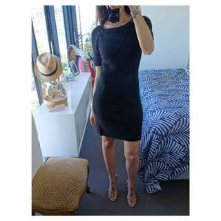Caroll Dress (French) - Black