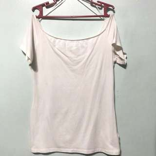 Cotton On White Off Shoulder Basic Tee