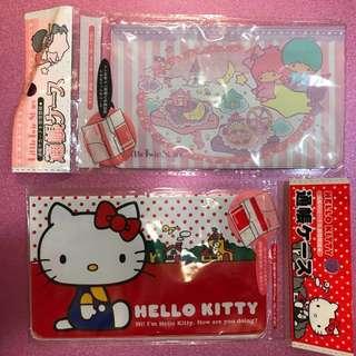 全新 正版Sanrio Hello Kitty Little Twin Stars 粉紅 紅色 手帳套 禮物