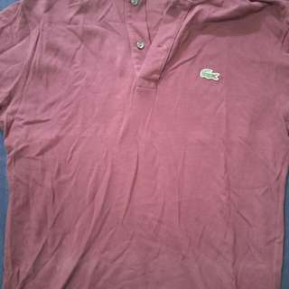 Dull Red Authentic Lacoste Polo Tee