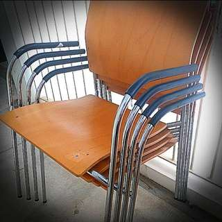 #Huat50Sale Wooden Chairs (4pcs)