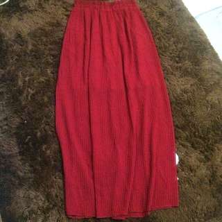 Avenue Red Skirt