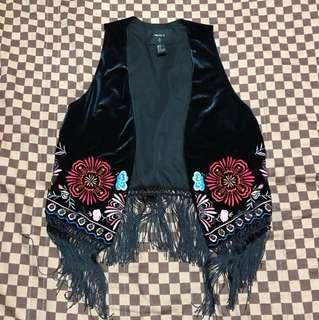 刺繡黑色背心