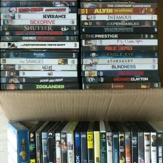 ~70 original DVD - many in brand new condition