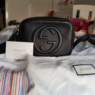 Authentic Gucci Soho Disco Bag - Black