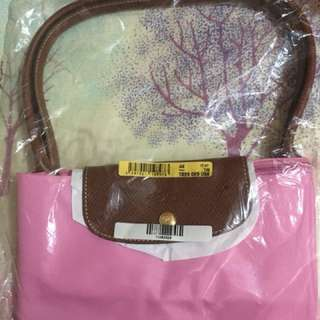 Longchamp large shoulder bag pink