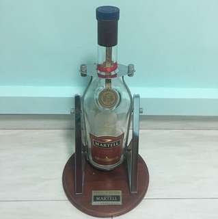 Empty Martell Canon Bottle