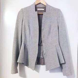 Willow grey peplum blazer size 10