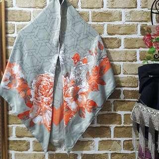 Hijab Instan Grey Orange