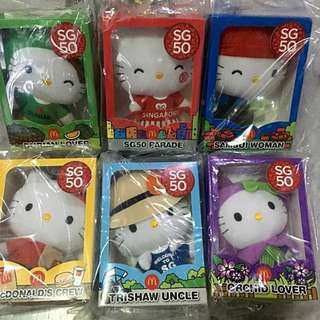 Limited Edition Hello Kitty SG50 Plush Toy Set