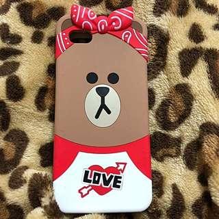 LINE Brown 熊大iPhone 6s plus 電話殻 A