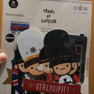 Travel sticker pack (可貼note book / 行李箱)