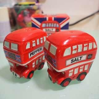英國倫敦巴士陶瓷 The Famous British Bus Ceramic Cruet Set