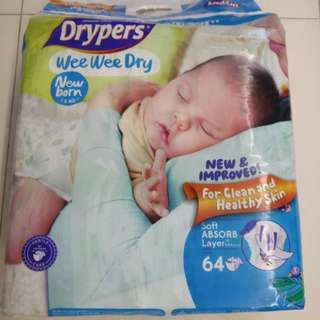 [BNIP] Diapers - drypers, wee wee dry new born