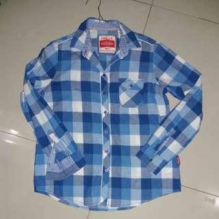 Tartan blue shirt