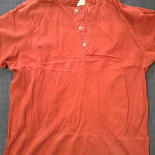 Red Authentic Ben Sherman Polo Tee