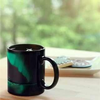 ThinkGeek Aurora Borealis Heat Change Mug  熱感應北極光杯 情人節禮物