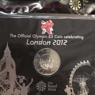 Limited edition London 2012 Olympics £5 coin