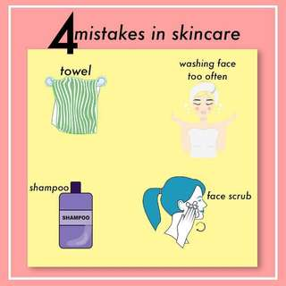 4 Mistakes in Skincare