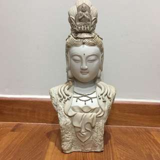 Clay Guan Yin head