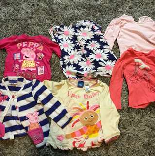 H&M, Peppa Pig, GAP, tops and cardigan size 2 - good quality