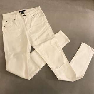 20%off tokyo white skinny tight jegging jeans - ripped at the knees