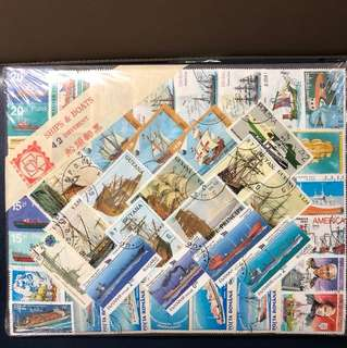 Clearing Stocks: World Ships And Boats Stamps, all Different 42 Stamps