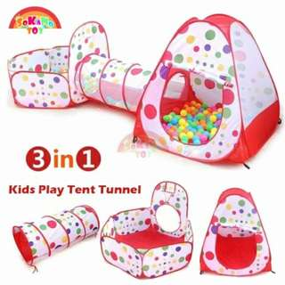 SOKANO TOY 3 In 1 Kids Play Tent Tunnel Play House Children Baby Indoor Outdoor Toys