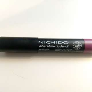 Nichido velvet matte lip pencil in wisteria
