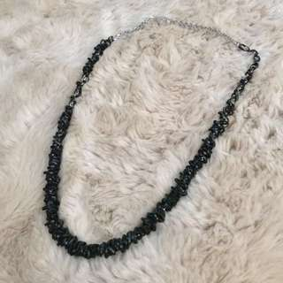 Casual or Formal Black Beaded Necklace