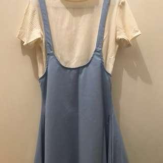 LIGHT BLUE JUMPER DRESS