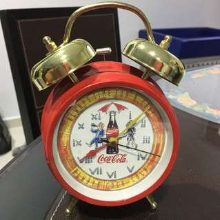 Coca Cola vintage clock collectible