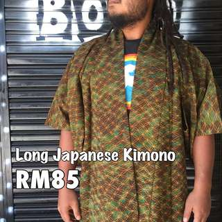 Long Authentic Japanese Kimono