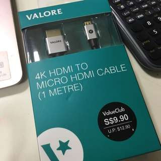 4K HDMI to Micro HDMI cable