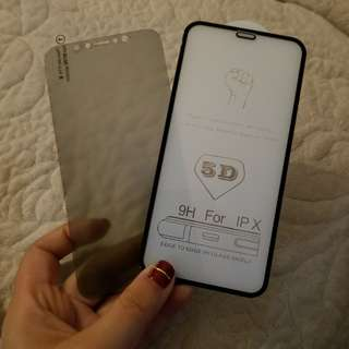 Iphone X screen protector玻璃芒貼/磨砂防偷窺芒貼