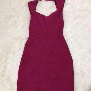 Dark Pink Sexy Dress