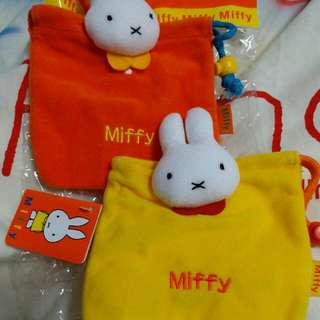 Miffy 橙,黃色索繩袋