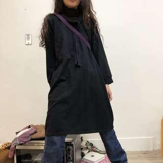 寬鬆棉質長洋裝 古著 二手