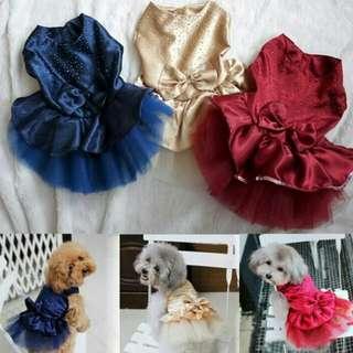 Dog Party Lace Dress Clothes (XL)