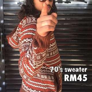 70's sweater