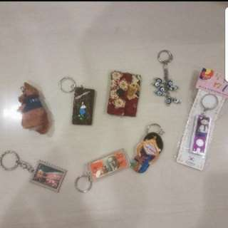 Instock Assorted Keychain From Overseas Bali Korea Australia