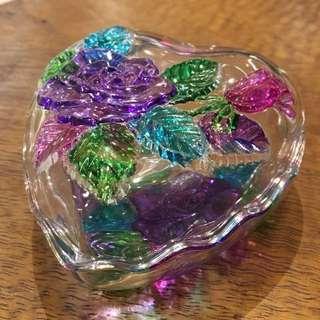 日本🇯🇵懷舊玻璃盒 60年代 心形