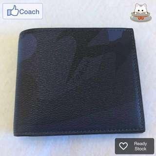 💁ON SALE NOW! 💯% Authentic Coach Blue Camo Men Wallet @ Ready Stock