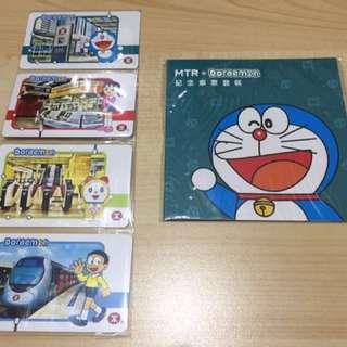 全新叮噹/多拉A夢/Doraemon紀念車票套裝