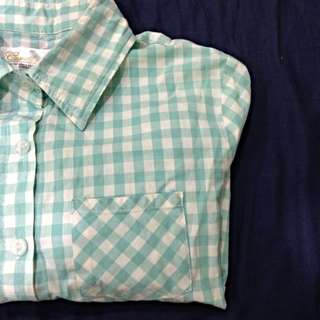 Tiffany綠格子襯衫