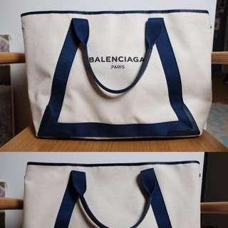 巴黎購得Balenciaga帆布/真皮包(大)