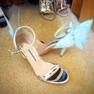 Chiara blue and silver heels