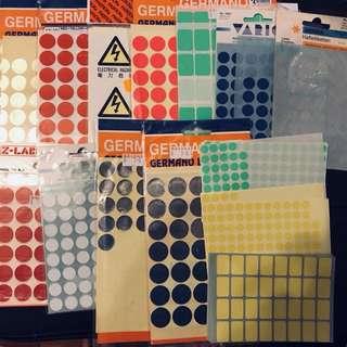 ◼️◻️圓形/方形貼紙 不同大小不同顏色⚪️⚫️🔴🔵