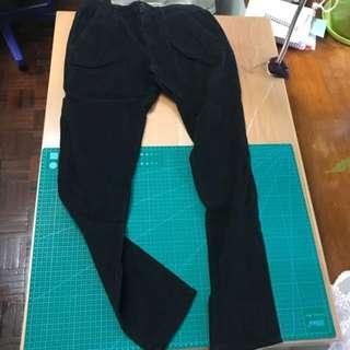 Zara 針織絨黑色長褲
